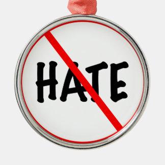 No Hate Metal Ornament