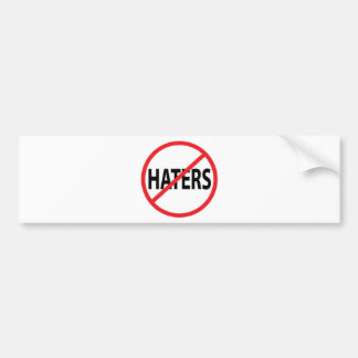 NO HATERS PEACE MOTIVATIONAL KINDNESS ATTITUDE CHA BUMPER STICKER