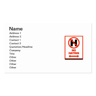 NO Hating Business Card