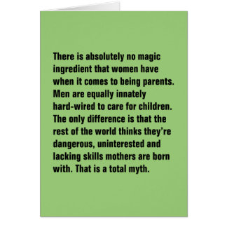 No hay absolutamente ingrediente mágico… tarjeta de felicitación