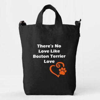 No hay amor como el amor de Boston Terrier Bolsa De Lona Duck