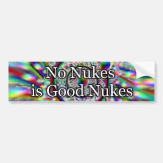 No hay armas nucleares buenas armas nucleares pegatina para auto