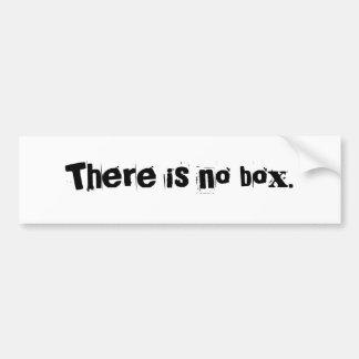 No hay caja etiqueta de parachoque