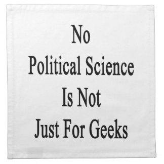 No hay ciencia política apenas para los frikis servilleta