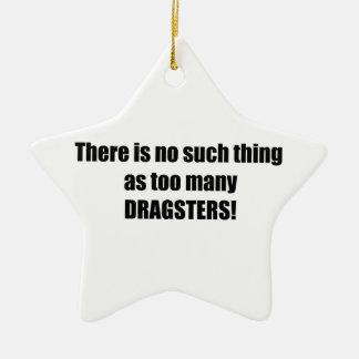 No hay cosa tal como demasiado Dragsters Adorno Navideño De Cerámica En Forma De Estrella