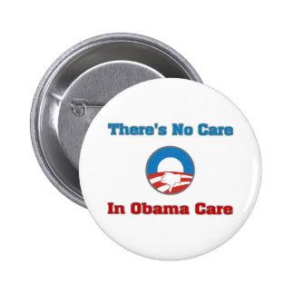 No hay cuidado en el cuidado de Obama Pins