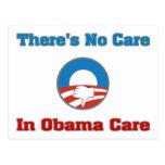 No hay cuidado en el cuidado de Obama Postales