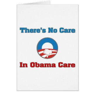 No hay cuidado en el cuidado de Obama Felicitaciones