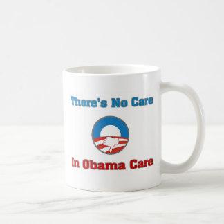 No hay cuidado en el cuidado de Obama Taza De Café