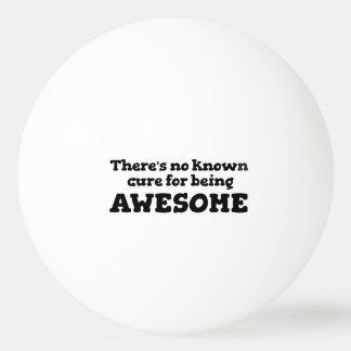 No hay curación sabida para ser impresionante pelota de tenis de mesa
