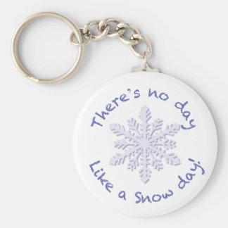 ¡No hay día como un día de la nieve! Llavero Redondo Tipo Pin