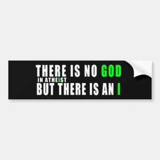 No hay dios en ateo pegatina para auto
