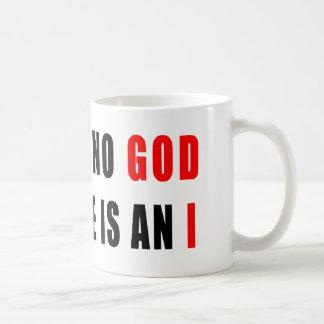 No hay dios en ateo taza clásica