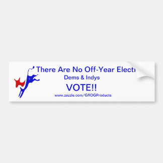 ¡No hay elecciones del Apagado-Año! Voto 2016 Pegatina Para Auto