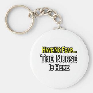 No hay enfermera del miedo… aquí llavero redondo tipo pin