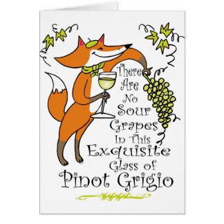 ¡No hay envidia en este Pinot Grigio! Tarjeta De Felicitación
