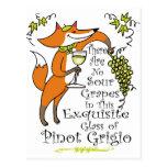 ¡No hay envidia en este Pinot Grigio! Tarjetas Postales