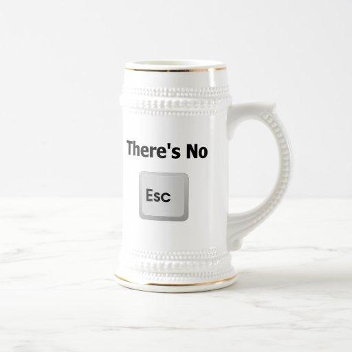 No hay escape jarra de cerveza