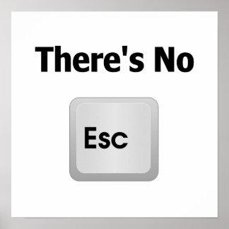No hay escape poster