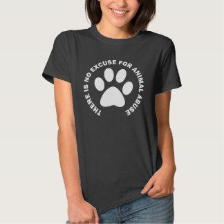 No hay excusa para el abuso animal remera