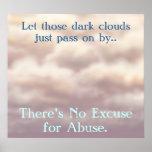 No hay excusa para el poster del abuso