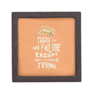No hay fracaso a menos que no más el intentar cite cajas de recuerdo de calidad