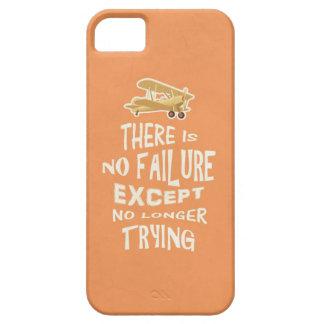 No hay fracaso a menos que no más el intentar cite iPhone 5 funda