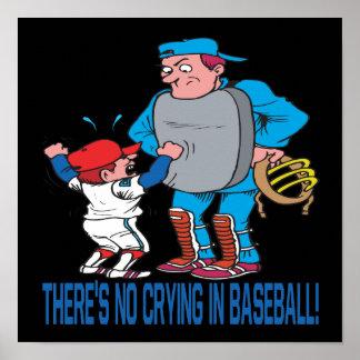 No hay griterío en béisbol posters