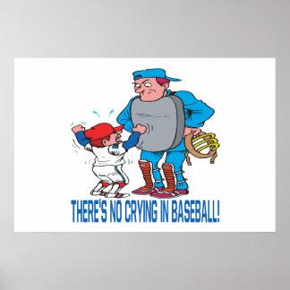 No hay griterío en béisbol póster