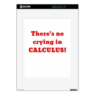 No hay griterío en cálculo calcomanía para el iPad