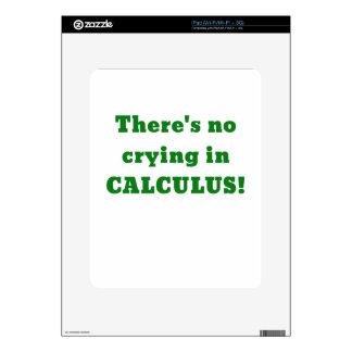 No hay griterío en cálculo calcomanías para el iPad