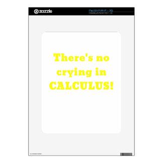 No hay griterío en cálculo calcomanías para iPad