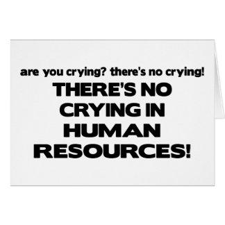 No hay griterío en recursos humanos tarjeta de felicitación