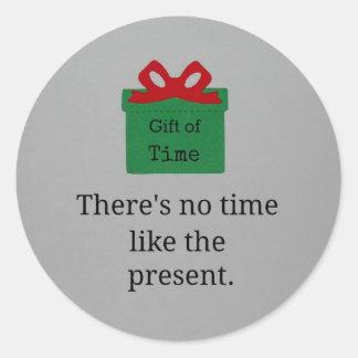 No hay hora como el presente pegatina redonda