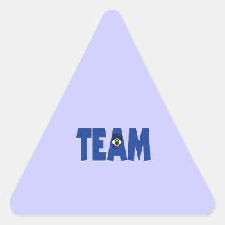 No hay I en equipo Pegatina Triangular