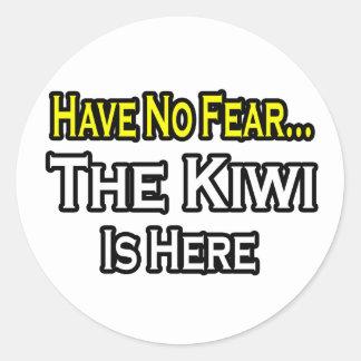 No hay kiwi del miedo… aquí pegatinas redondas