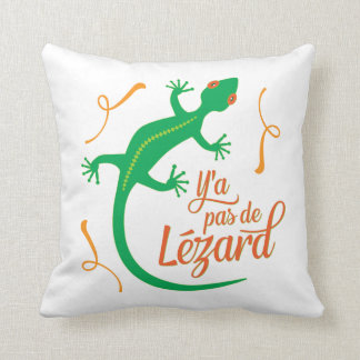 No hay lagarto - refrán francés divertido cojín