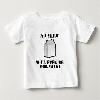 No hay leche nunca nuestra leche playera de bebé