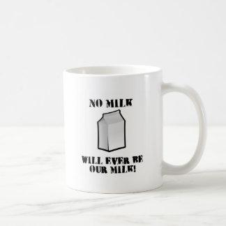 No hay leche nunca nuestra leche taza básica blanca
