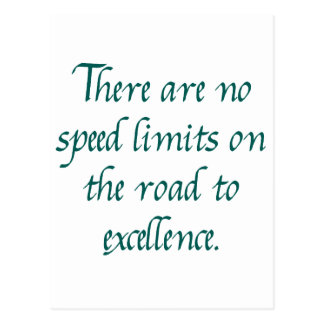 No hay límites de velocidad tarjeta postal
