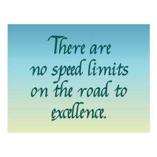 No hay límites de velocidad tarjetas postales