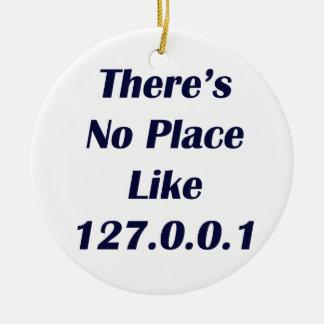 No hay lugar como 127001 adorno navideño redondo de cerámica