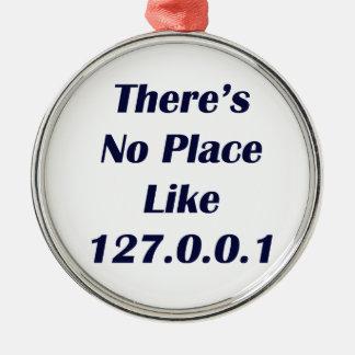 No hay lugar como 127001 adorno navideño redondo de metal