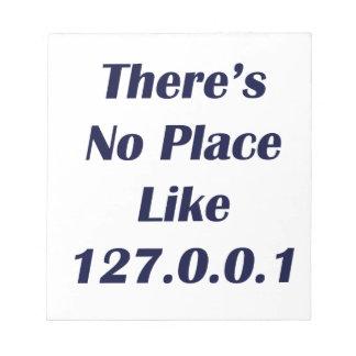 No hay lugar como 127001 bloc de papel