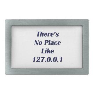 No hay lugar como 127001 hebilla de cinturon rectangular