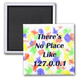 No hay lugar como 127001 imán cuadrado