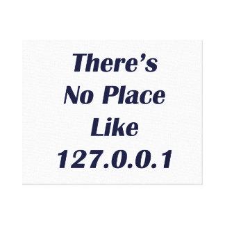 No hay lugar como 127001 impresión en lona