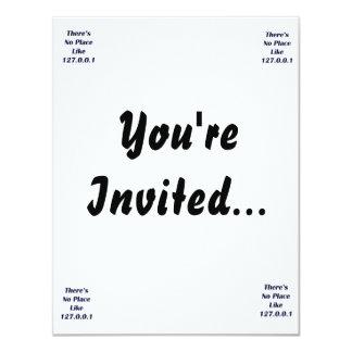 No hay lugar como 127001 invitación 10,8 x 13,9 cm