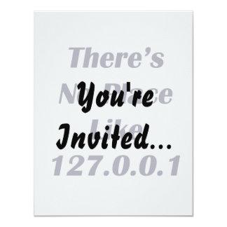 """No hay lugar como 127001 invitación 4.25"""" x 5.5"""""""