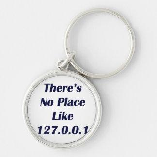 No hay lugar como 127001 llavero redondo plateado